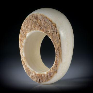 Fingerring aus Mammut Elfenbein, teilweise naturbelassen, Innendurchmesser 19.2mm