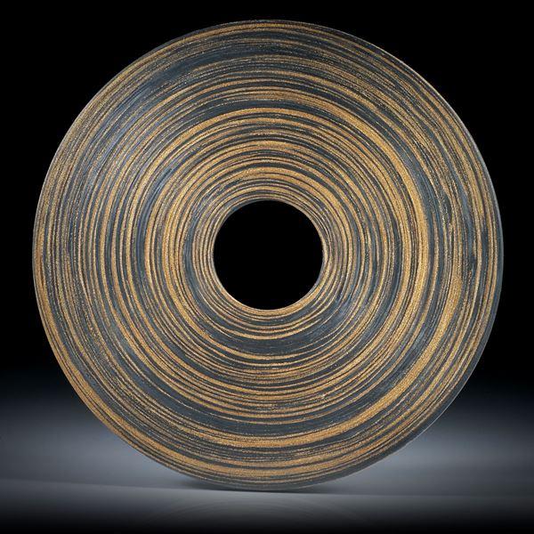 grosse Scheibe aus Karbon mit Glasfaser Bronze, Aussendurchmesser 65mm, Bohrung 15mm, Dicke 4mm