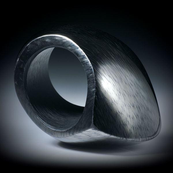 Karbonring hoch geschliffen und poliert, Innendurchmesser 19.1mm