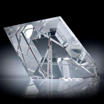 Rutilquarz, Rutil in Bergkristall, Spiegelschliff ca.50x33x12mm