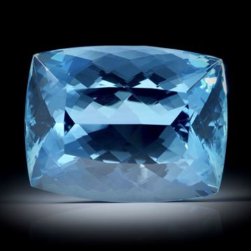 Aquamarin 21.15ct. Santa Maria, Brasilien, Cushion cut  ca.19.5x15x11mm