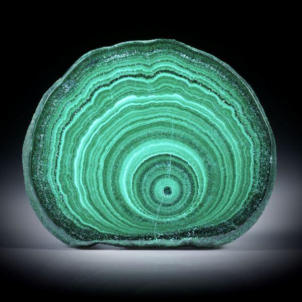Malachit Querschnitt poliert, ca.32x26.5x5mm