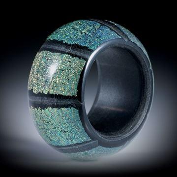 Opalglas Fingerring, poliert, Breite 16mm, aussen bombiert, Innendurchmesser 19mm