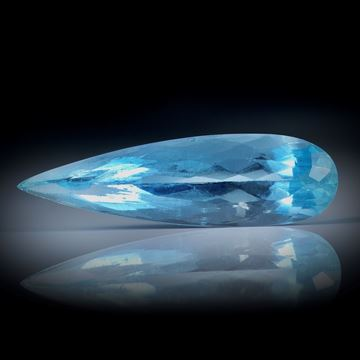 Santa Maria Aquamarin 4.46ct.  Tropfenform facettiert ca.22x6.5x6mm