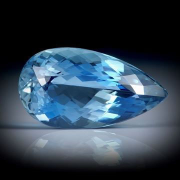 Santa Maria Aquamarin 3.96ct.  Tropfenform facettiert ca.15x8x6mm