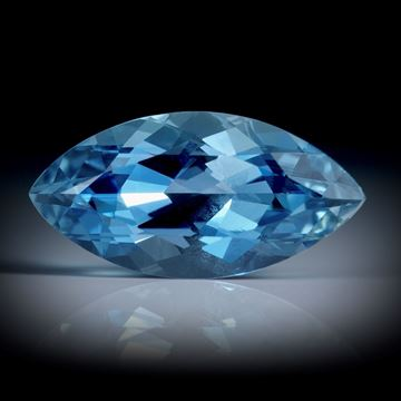Santa Maria Aquamarin 3.98ct.  Navette facettiert ca.16x8x6mm