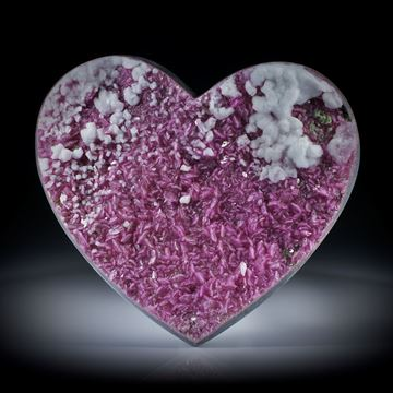 Kobaltocalcit Herz ca.61x53x9mm, Rückseite leicht bombiert