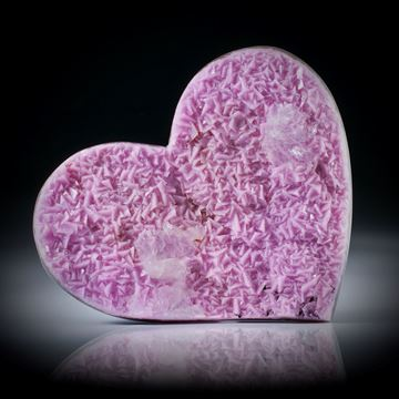 Kobaltocalcit Herz ca.54x46x8mm, Rückseite leicht bombiert