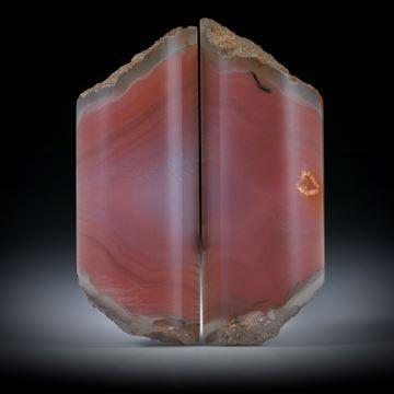 Karneol Paar, teilweise naturbelassen je ca.41x16x7mm