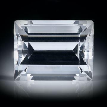 schweizer Bergkristall 18.29ct. Smaragdschliff ca.18x14x10mm