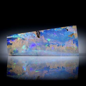 Boulderopal Australien, 32.43ct. mit dicker Opalschicht, ca.34x15x7mm