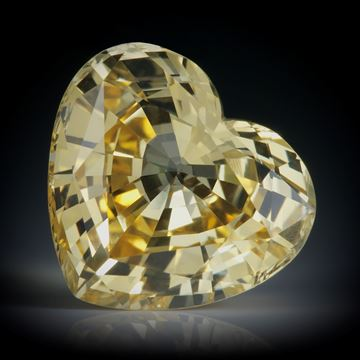 Saphir Sri Lanka 13.32ct. unerhitzt, Herzform facettiert ca.15x14x8.5mm