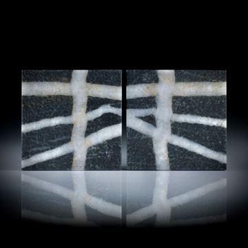 Kieselstein Paar 70.33ct. Viereckform flach je ca.30x30x3mm