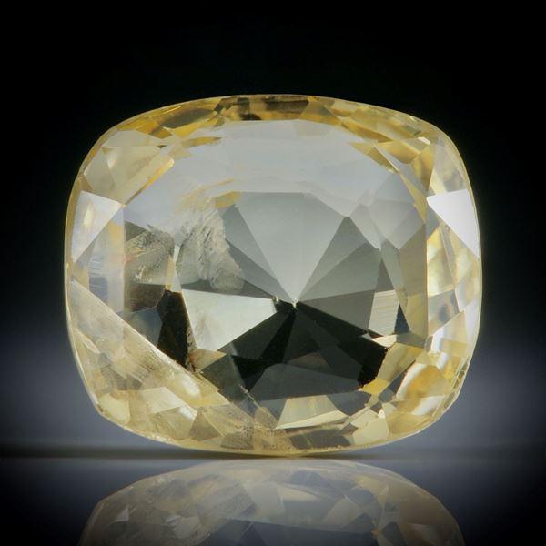 Saphir Ceylon unerhitzt 6.01ct. Kissenschliff ca.11x9.5x5mm