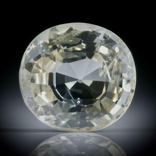 Saphir Ceylon erhitzt 7.66ct. oval facettiert ca.12.5x11.5x6mm