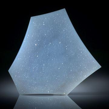 Chalcedon mit kristalliner Oberfläche, Fantasieform ca.52x44x8.5mm