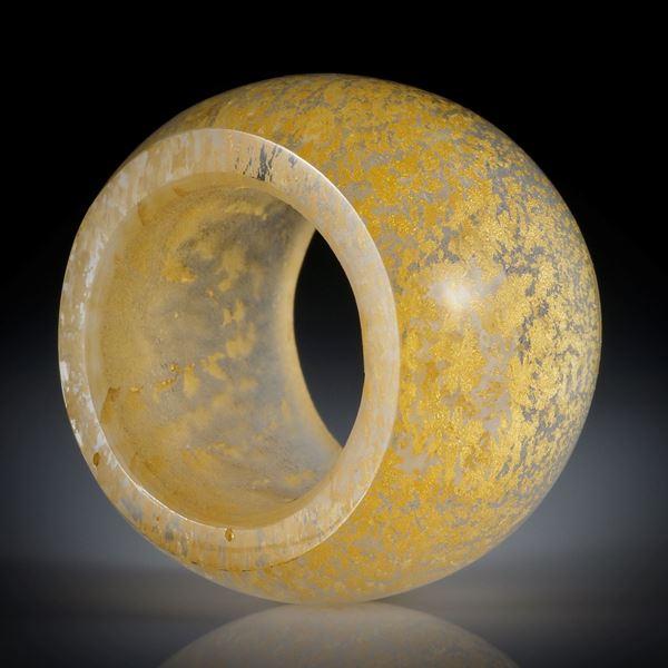 Goldglas Fingerring, parallel geschliffen und poliert, Breite 20.5mm, Innendurchmesser 20.1mm