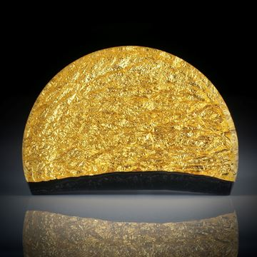 Goldglas Freiform, Halbrund ca.45x30x6mm