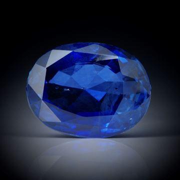 Saphir 4.16ct. Royal Blue unerhitzt, oval facettiert ca.10.5x8x5mm