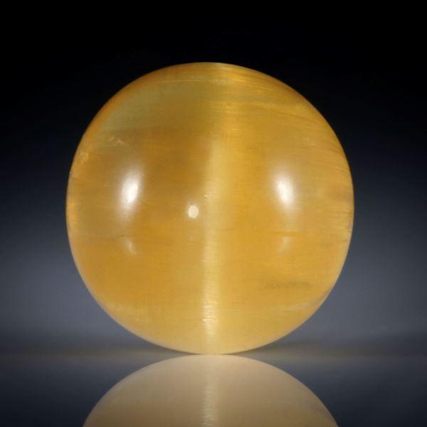 Beryll Katzenauge 33.55ct. Runder Cabochon ca.19.5x19.5x13mm