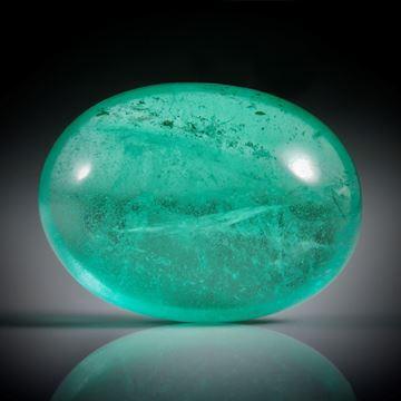 Smaragd 8.69ct. ovaler Cabochon ca.15x11x7mm