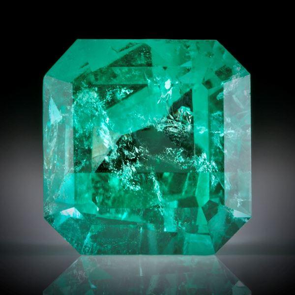 Smaragd 6.42ct. Smaragdschliff ca.11x11x8mm