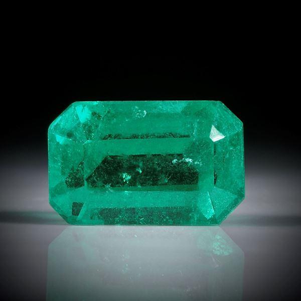 Smaragd 1.16ct. Smaragdschliff ca.7.5x5x4.5mm