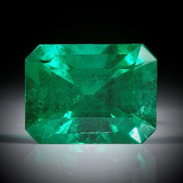 Smaragd 0.77ct. Smaragdschliff ca.7x5x4mm