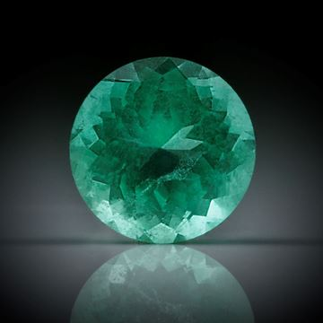 Smaragd 0.8ct. rund facettiert ca.6.3x6.3x4mm