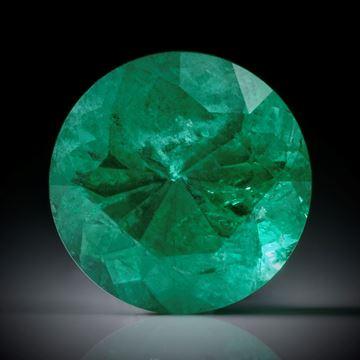 Smaragd 3.16ct. rund facettiert ca.10x10x6.5mm