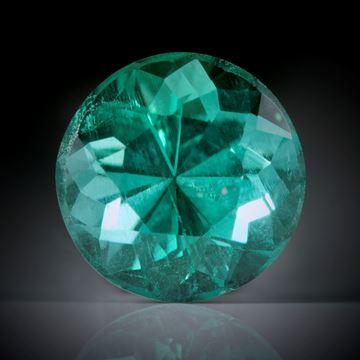 Smaragd 0.5ct. rund facettiert ca.5x5x4mm