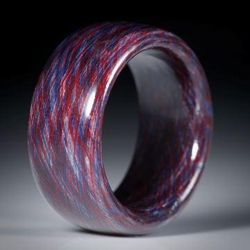 Fingerring aus Baumwolle, hochdruckstabilisiert, innen und aussen gerundet, Breite 10.5mm, Innendurchmesser 18.6mm