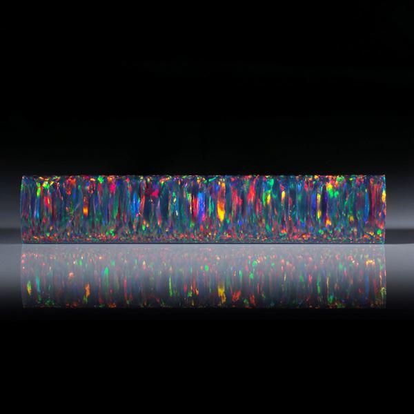synthetischer Opal, Stabform poliert, ca.87x17x6mm