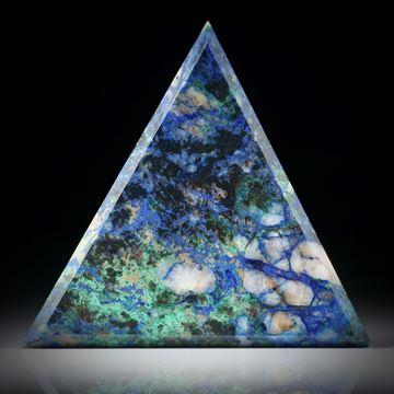 Azurit Malachit Dreieck ca.53x43x4mm
