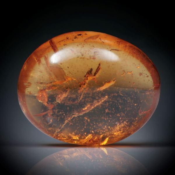 Mandarin-Granat 3.97ct.  ovaler Cabochon ca.10.5x8x4mm