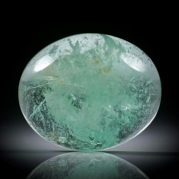 Smaragd 25.28ct.  ovaler Cabochon ca.23x19x8.5mm